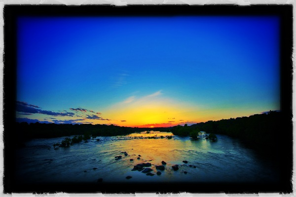 Sunset over The James yesterday here in RVA. #NickleBridge #newcamera #learninghowtotakepicturesisfun