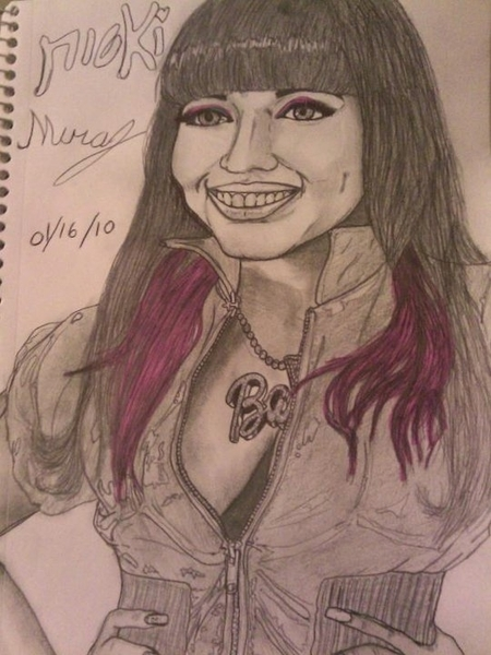 @NICKIMINAJ check out my drawing I did of nicki Minaj #pinkfriday. #teamminaj