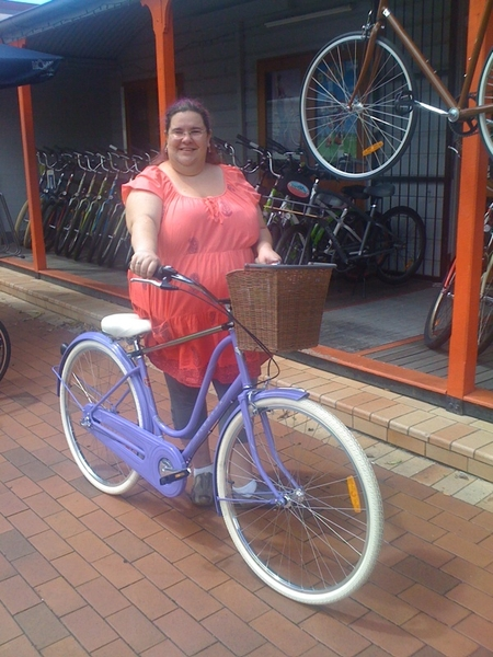 Fat girls on bicycles