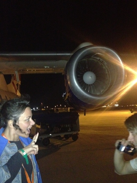 Flyin in our own jet late last night!!