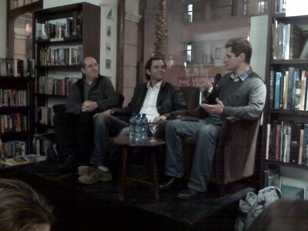 #readsa Mobinomics launch at @book_lounge in Cape Town: @gussilber, Alan Knott-Craig, Arthur Attwell