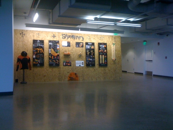 @robdyrdek @shades313 shaman longboarding! Got to see my work on display as I walked back into school for another semester!