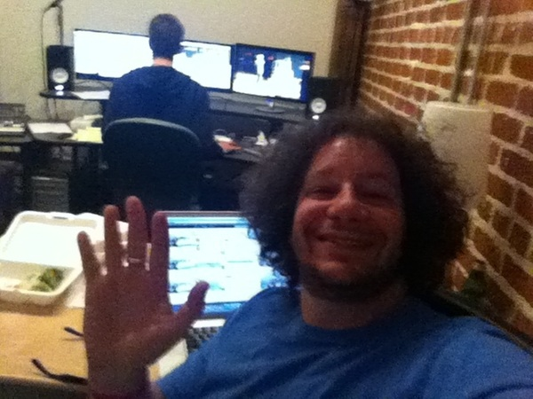 "Editing my next special, ""Jeff Ross Roasts America"". Can't wait for ya'll to see it this summer on @comedycentral."