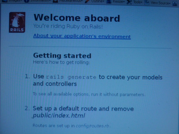 welcome aboard #rubyonrails