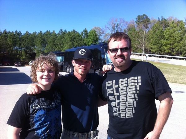 John Michael and I got to hang with  @therealtobymac at Stadiumfest. Gained def cool dad points with my kiddo :)