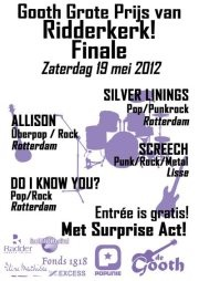 Vanavond in de Gooth: GGPR Finale met Silver Linings, Allison, Screech en Do I Know You http://on.fb.me/JL3mhM