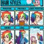 Rainbow Dash is modeling for @PixieChixie36 I wonder which hairstyle she likes. (Hair did by FlutterShy) #MLP #Hair