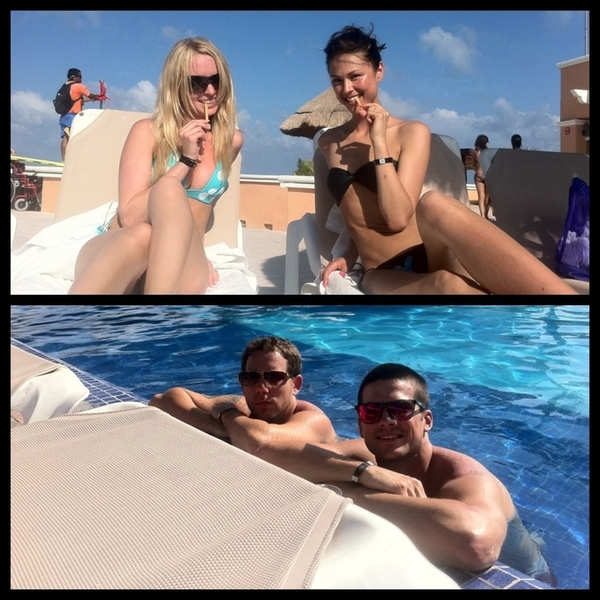 Pool date w/ @RickMalambri @L337Lauren @therealcliffyb