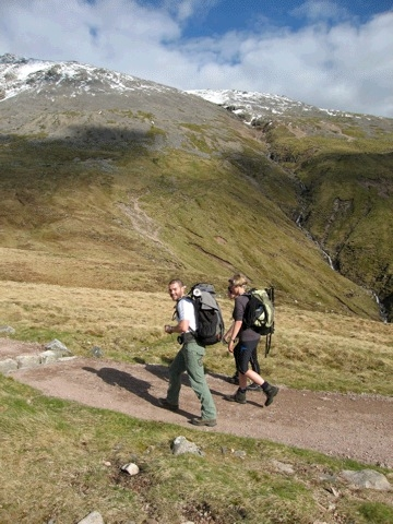 Andy and Billy on the Mountain Track, Ben Nevis
