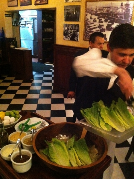 Ystrday n Tijuana: filmed making of the original Caesar salad at Caesars. Gr8 Plascencia family resto; best salad!