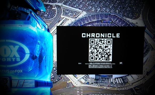 Thank goodness for TiVo, or I would not have had the time to grab this QR code.