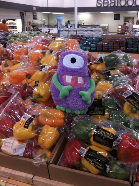 Monsters Inc homie just chillin on the peppers