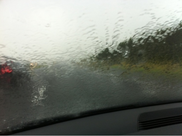 Heavy rain in zeeland