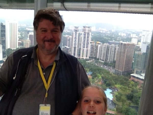 I took my @scottevest to new heights - @ Petronas Towers KL