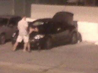 Couple fornicating on roof of the 13th street garage South Beach 6:30 PM today