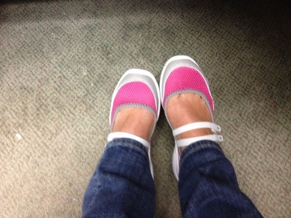 Breaking in my honeymoon shoes courtesy of  @LLBean  Aren't they cute?!?!?! #fb