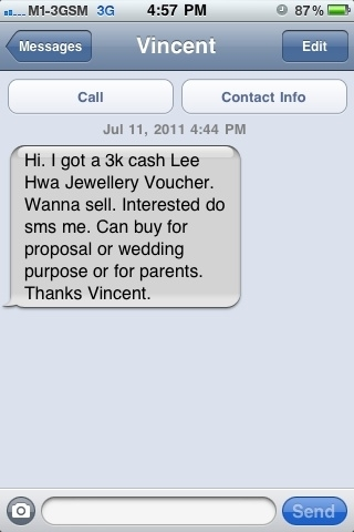 LOL. I thou who was this. Any random person sendin me random SMS. &amp; come to think of it tt its impossible cuz I even hv his no. 