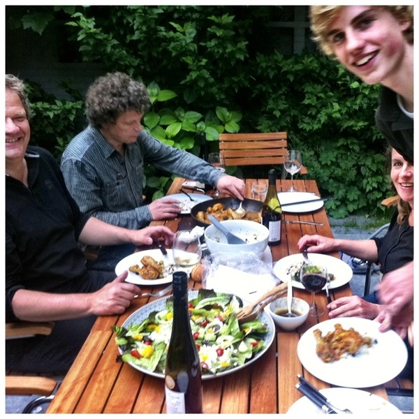 Lovely garden dinner :) #iphoneography #dinner