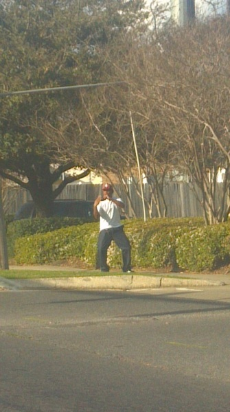 say yall I caught a pic of the nigga that be all over da city dancing lmaoooo #TEAM504 (#RRM)