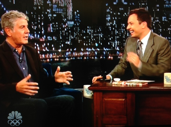 It was also great to see Anthony @Bourdain in real life at the @JimmyFallon show!