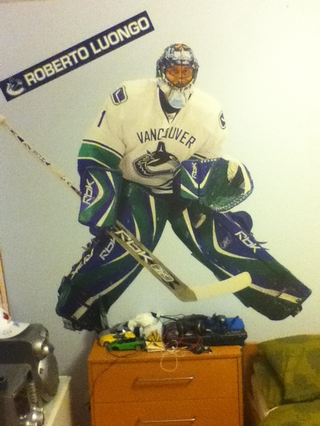 That's Canuck love at its finest #playoffs #NHL #Luongo #Fatheadposter #stanleycup2011