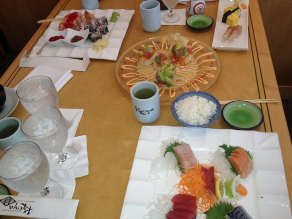 Lunch at Kyo-ya with @andpoul @olliewagner and @bwalkin which was Steve Jobs favorite sushi joint in San Fran #WWDC