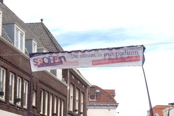 Mooie slogan van #Spoffin De straat is ons podium 23-26 augustus 2012 ^W