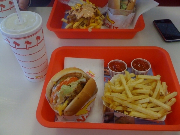 In n out, the perfect lunch.