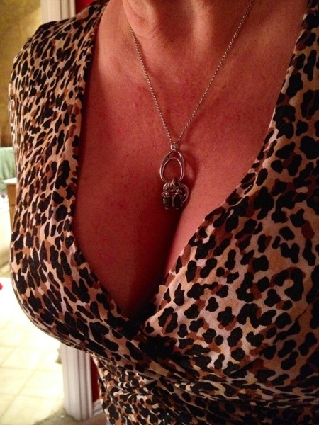 Taking @MrsTexVoyeur out for a drink or two tonight.  Love her top she's wearing!!! #Cleavage #boobalicous