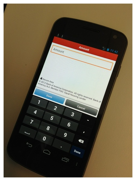 Updated BofA Android app available too! Some UI enhancements to make tasks easier to perform. #fb 