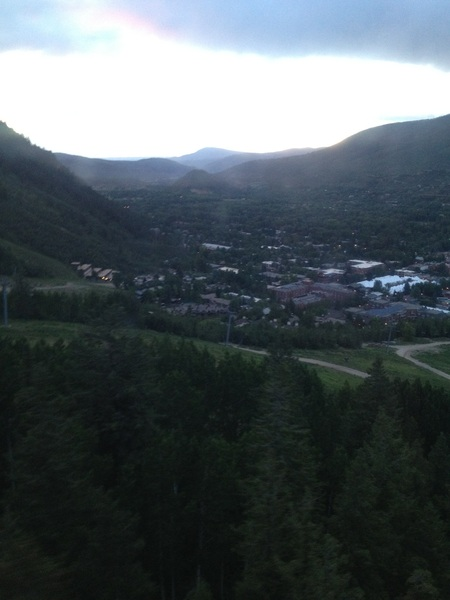 Sunset over Aspen. Headed up the mountain to the Publishers Party at F&WCLASSIC