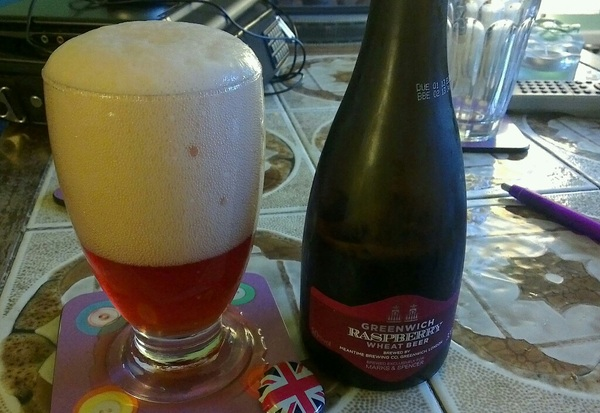 Lively and patriotic raspberry wheat beer