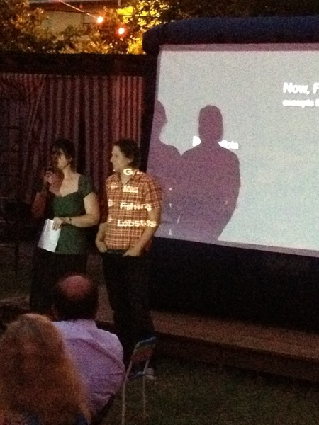 Julia and Jason getting ready to screen @NowForager