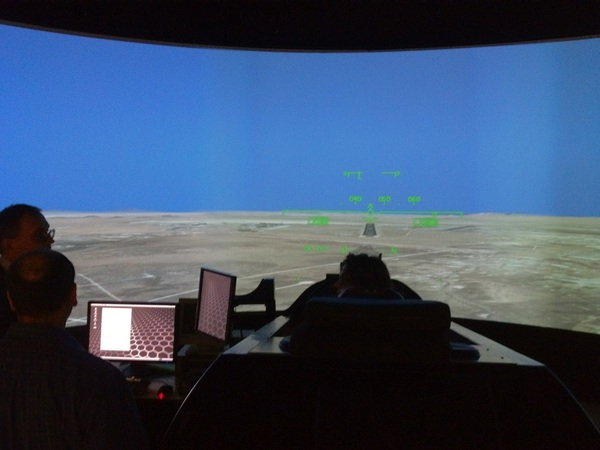 F-18 flight simulator room at @NASADryden #NASASocial #OV105 #SpotTheShuttle