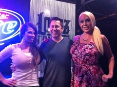 Heres a another pic of me @MISSBROOKEHAVEN @realmarycarey at the @georgelopez show