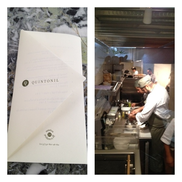 Quintonil Resto, DF: comfortable modern restaurant w talented young chef Jorge Vallejo evolving very trad flavors