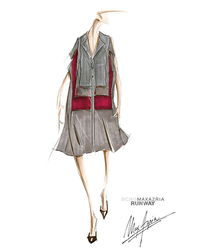 BCBG Max Azria inspiration sketch for todays  #NYFW show at 10am