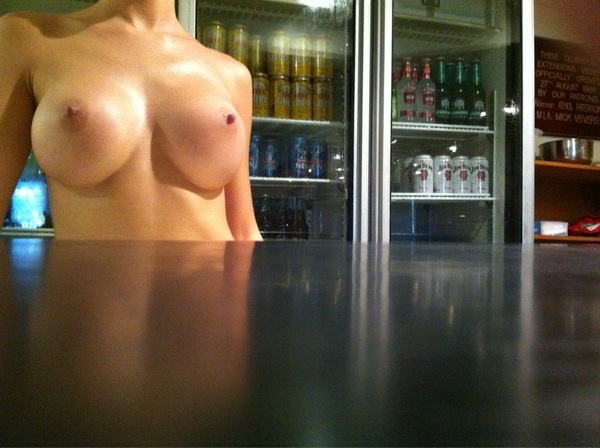 ..Can I get you a beer sir? Serving drinks, sexy style! #publicnudity 