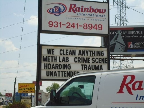 Need a good cleaning crew? They clean up your accidents.