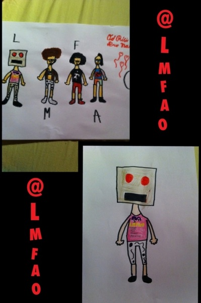 This made my 8 years old brother for ME! ♥ So cute! ♥ He is a #TruePartyRocker like me! ♥ @LMFAO